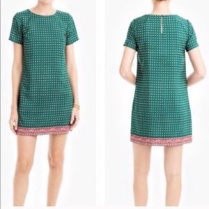 J. Crew Printed Floral Gallery Shift Dress